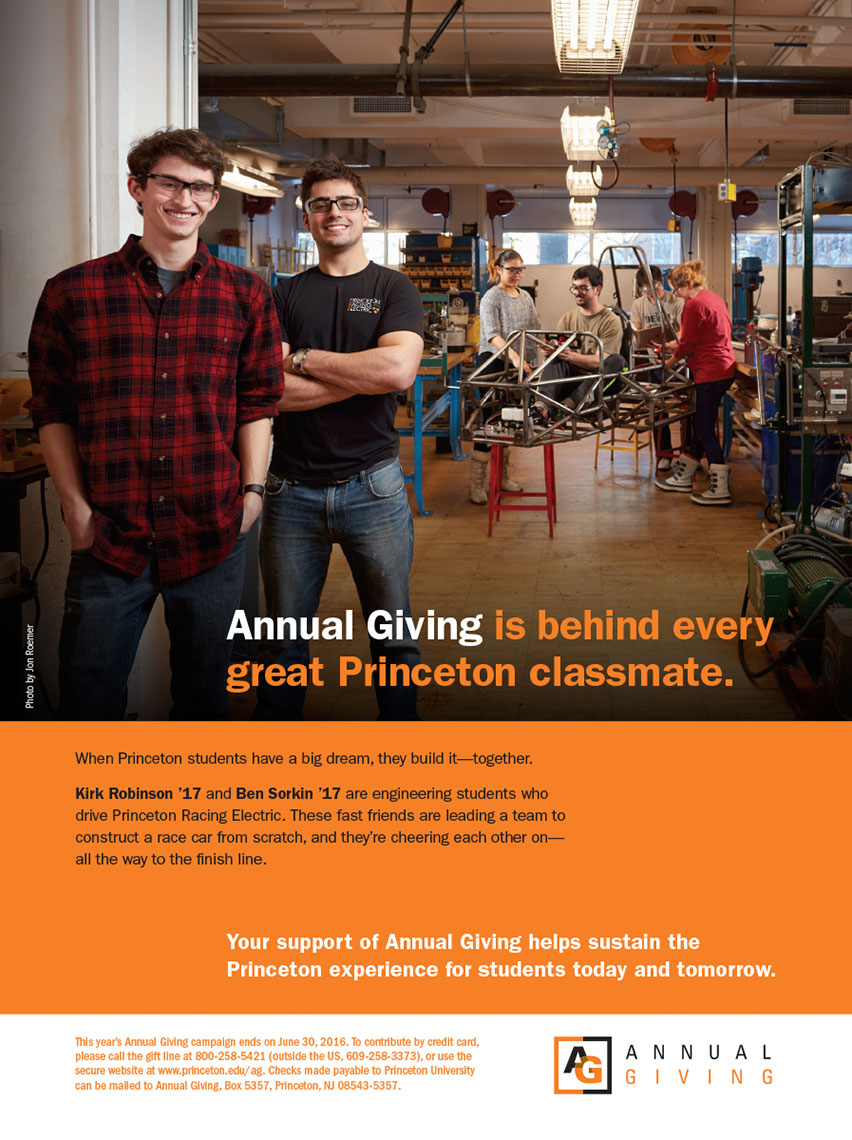 Princeton University Annual Giving Ad Campaign - Princeton Racing Electric