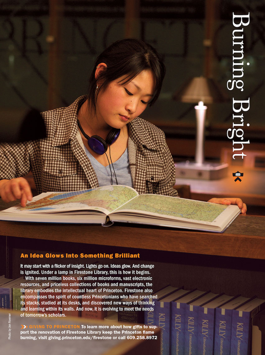 Princeton University Burning Bright Ad Campaign