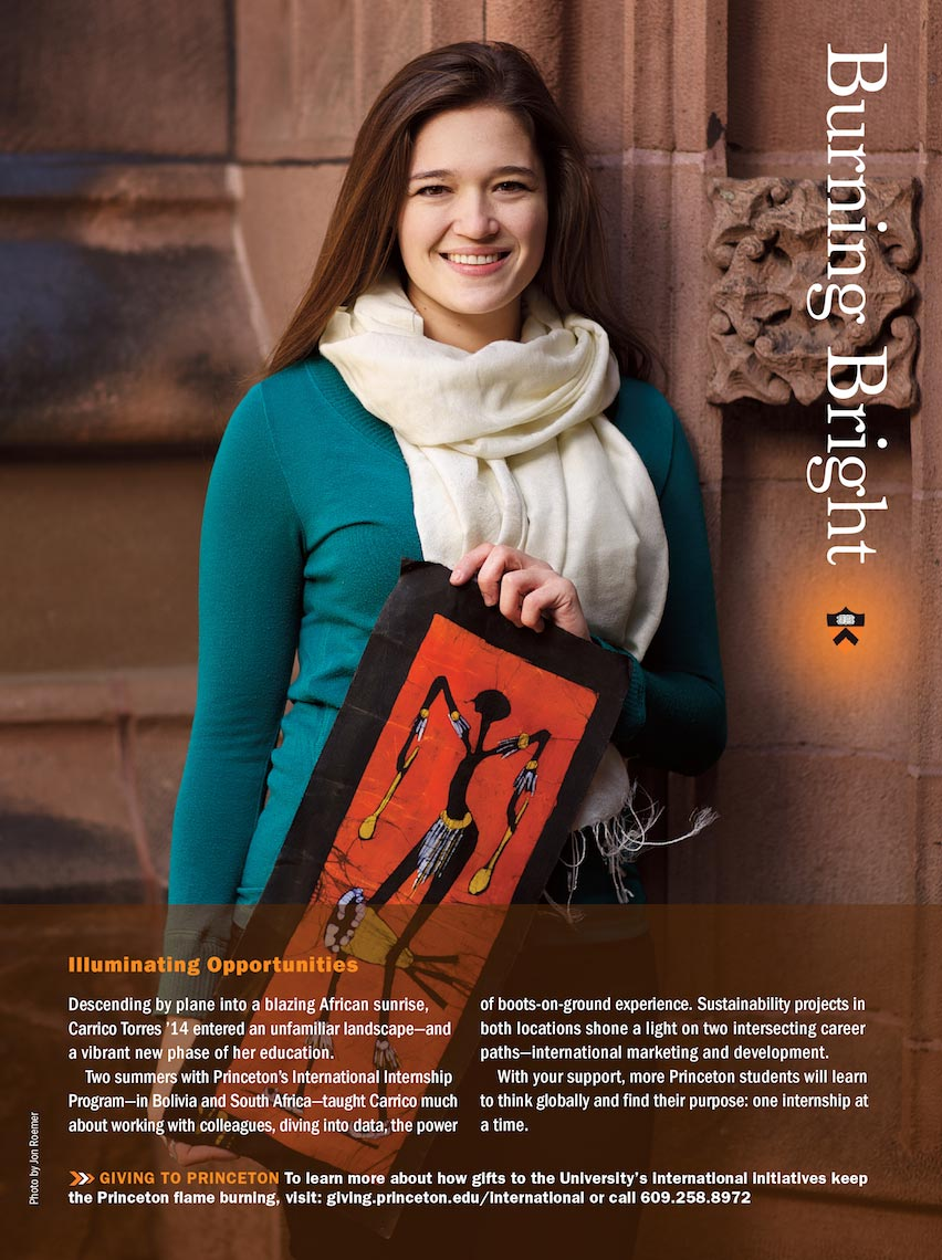 Princeton University Burning Bright Ad Campaign - Carrico Torres