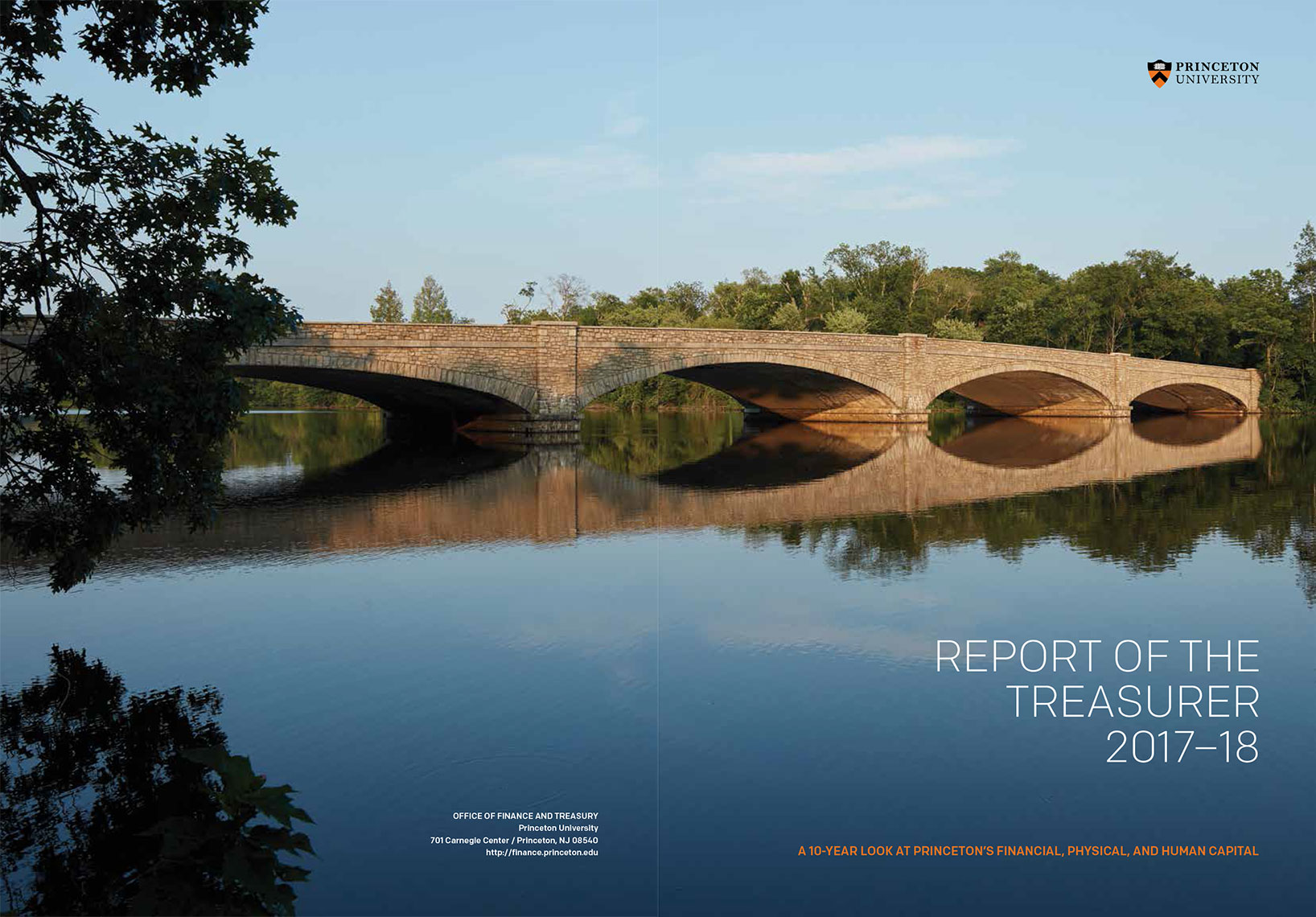Report of the Treasurer 2017-18 Princeton University Cover