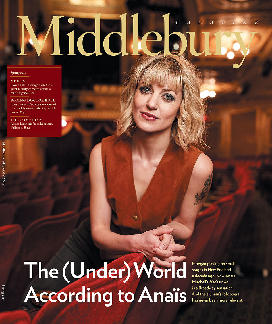 Anaïs Mitchell Cover Story - Spring 2019, Middlebury Magazine