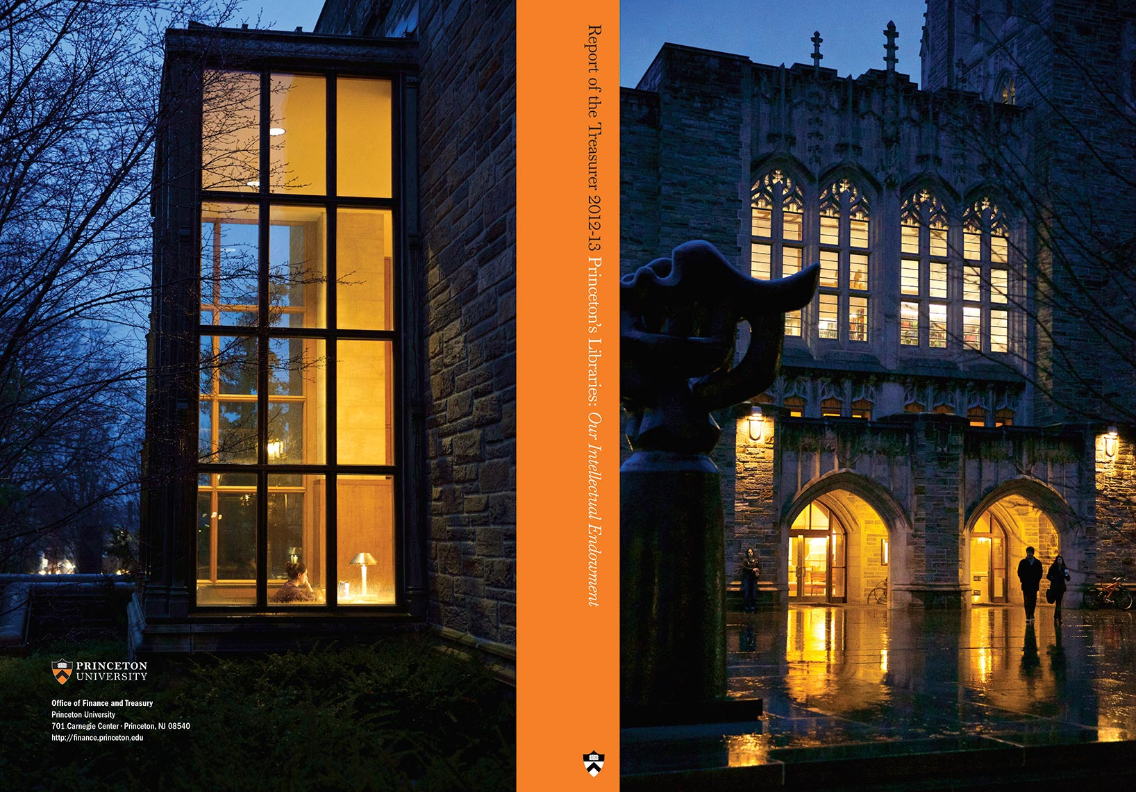 Princeton University - Report of the Treasurer - Cover Spread - 2012-13