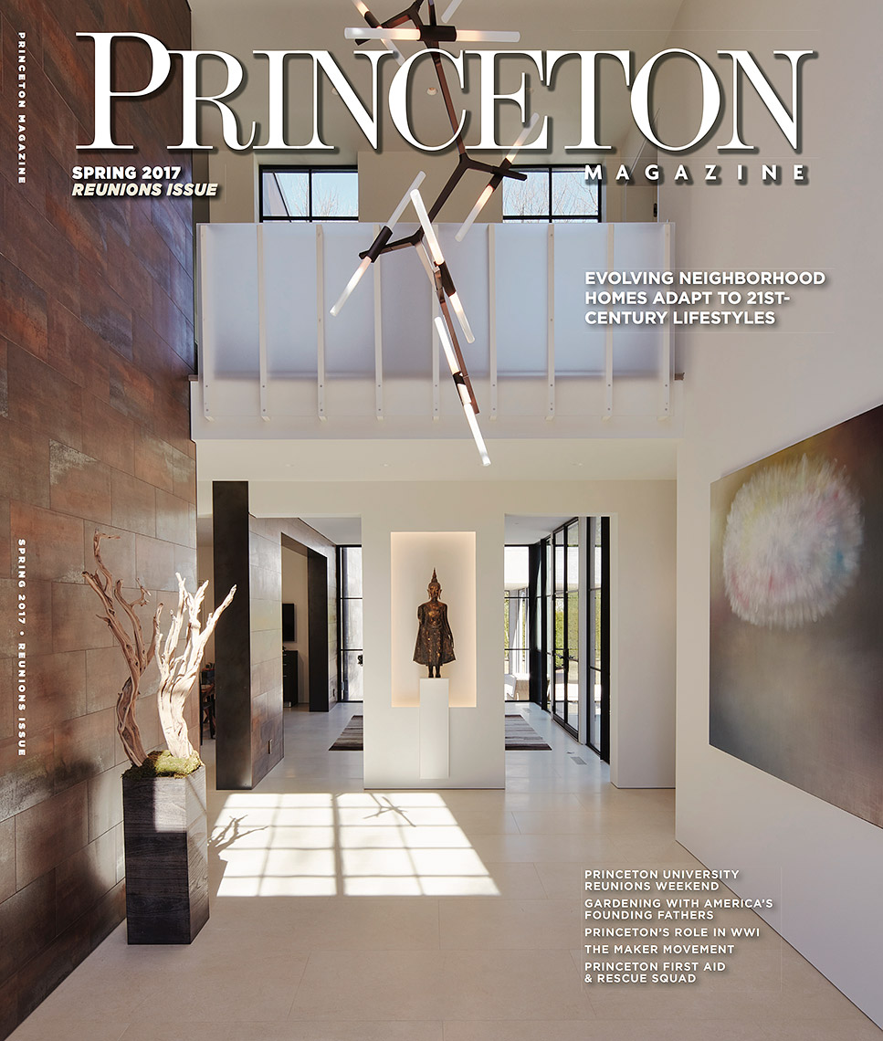 Princeton Magazine, Spring 2017. Cover by Jon Roemer.