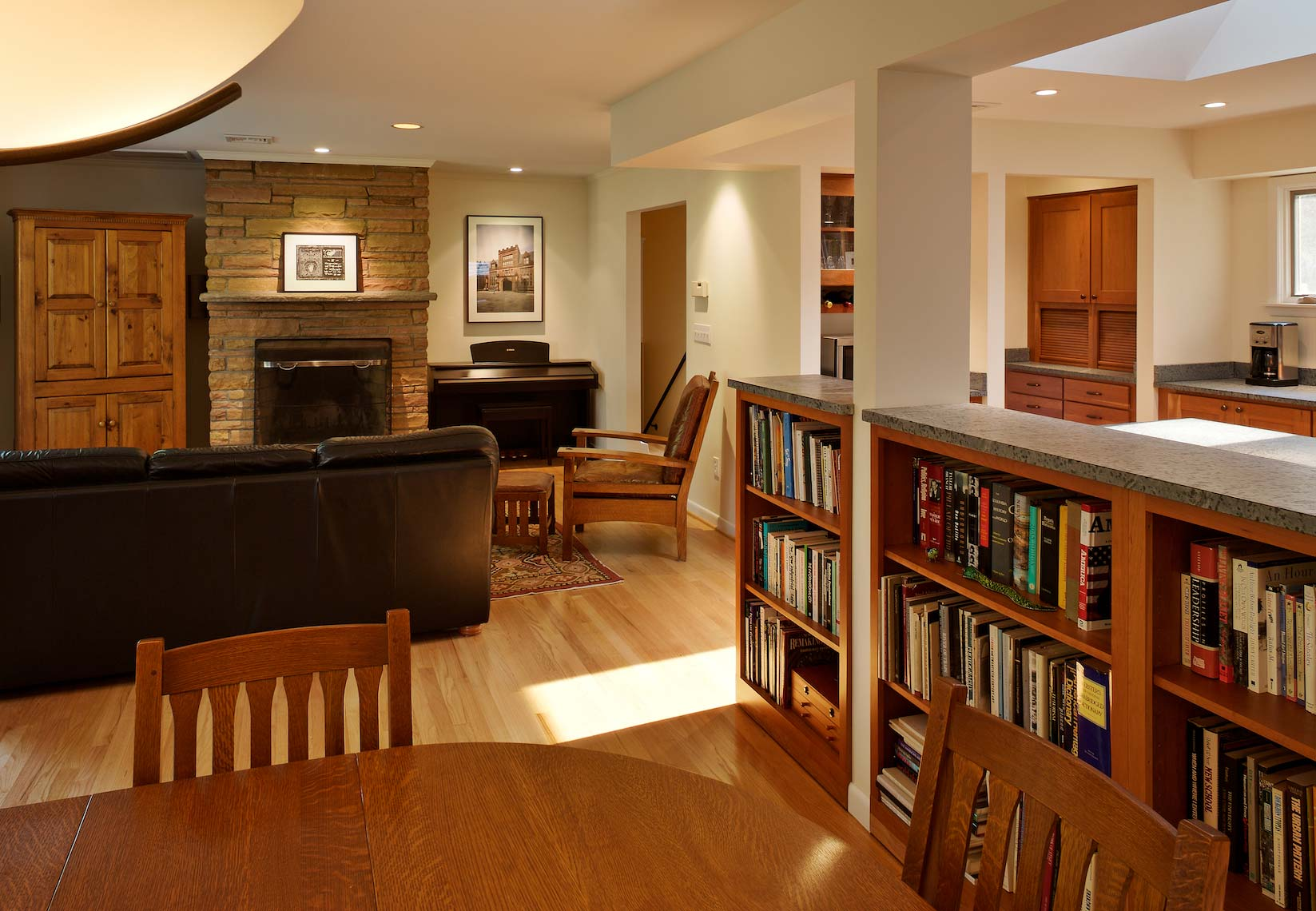 Classic Split-Level Renovation with a Modern Twist - Princeton, NJ - Dining & Living Room