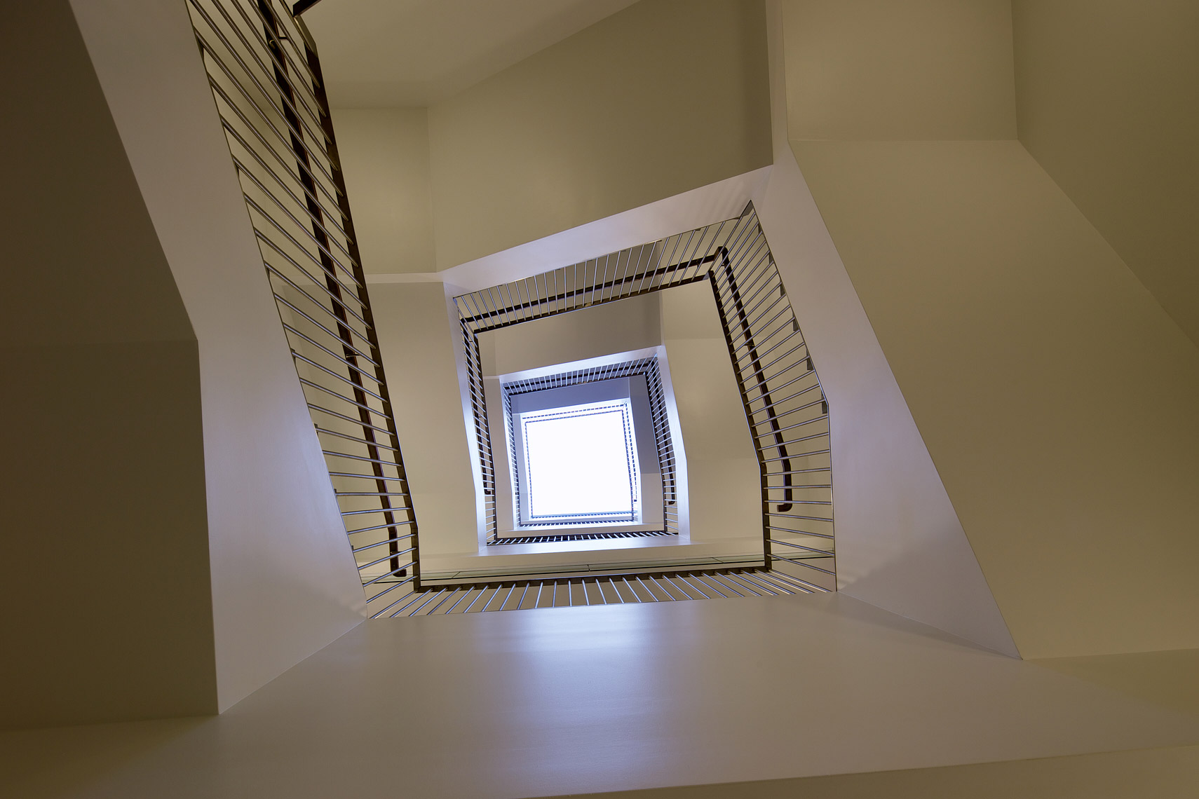 Inner stairwell - Peretsman Scully Hall