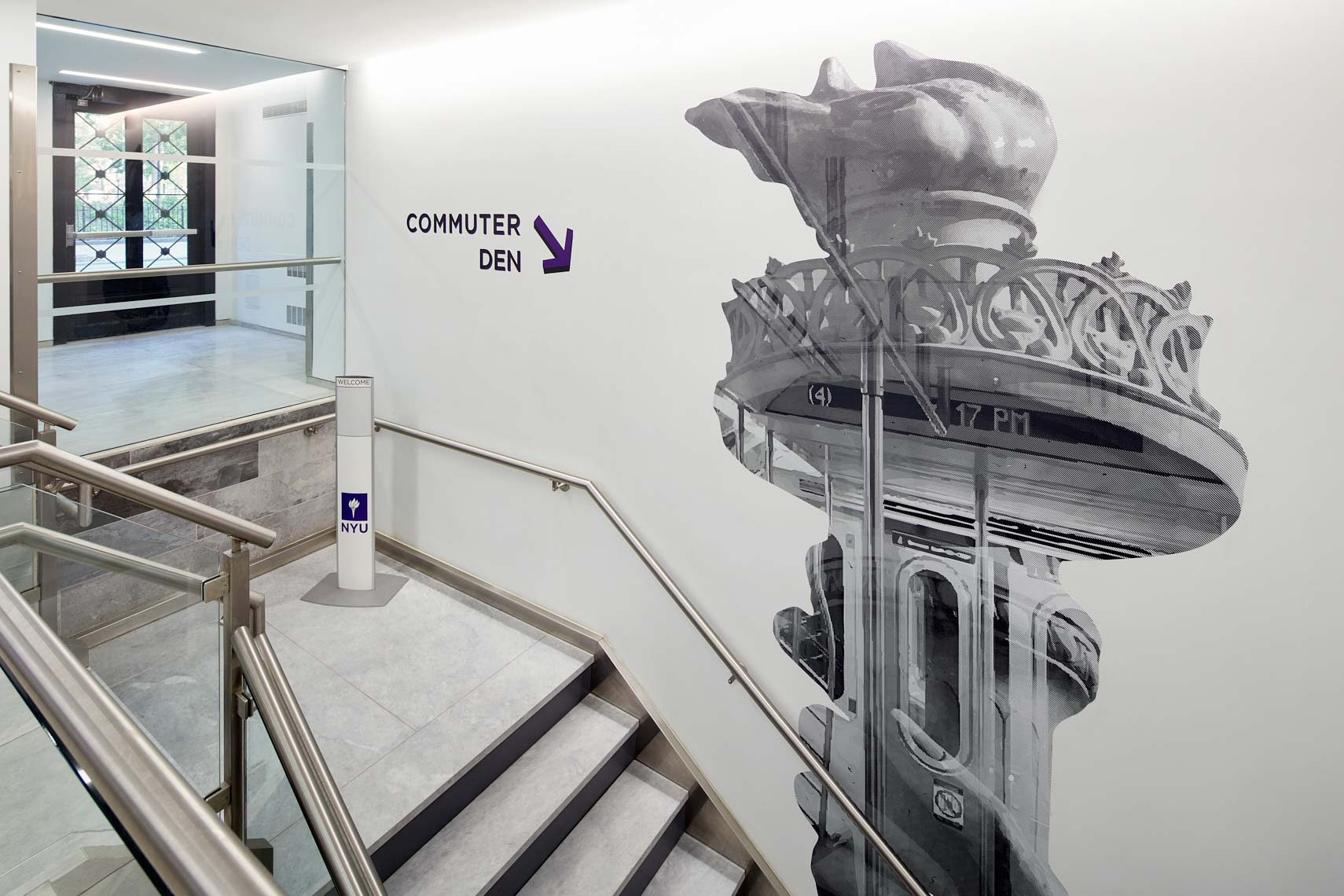 NYU Lipton Hall - Commuter Lounge Graphic