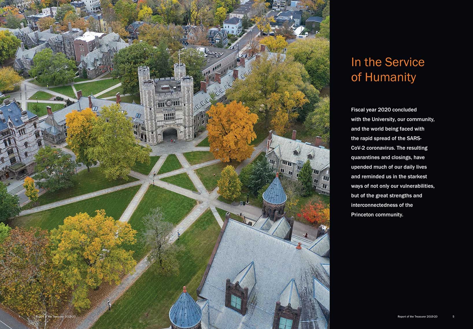 In the Service of Humanity, Report of the Treasurer 2019-20 Princeton University
