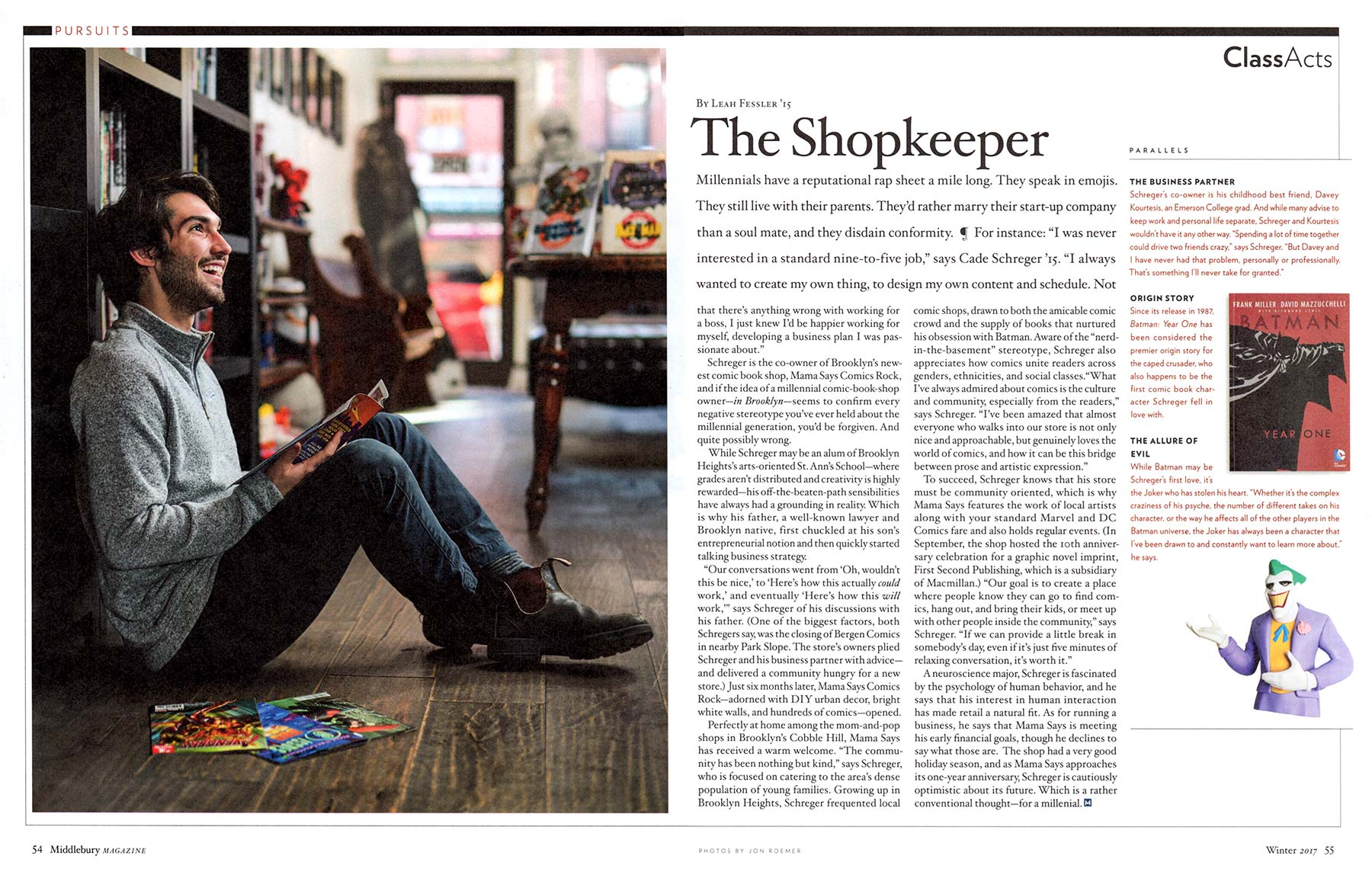 Middlebury Magazine - The Shopkeeper